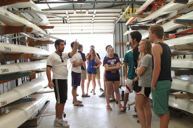 TCU Students get check out on rowing equipment